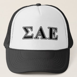 Sigma Alpha Epsilon Black Letters Trucker Hat