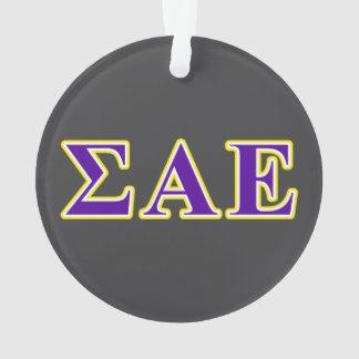 Sigma Alpha Epsilon Purple and Yellow Letters