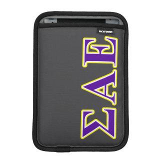 Sigma Alpha Epsilon Purple and Yellow Letters Sleeve For iPad Mini