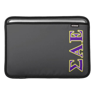 Sigma Alpha Epsilon Purple and Yellow Letters Sleeves For MacBook Air