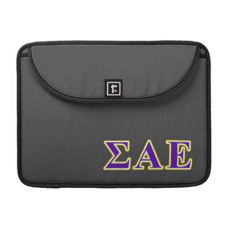 Sigma Alpha Epsilon Purple and Yellow Letters MacBook Pro Sleeve