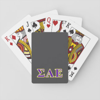 Sigma Alpha Epsilon Purple and Yellow Letters Deck Of Cards