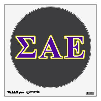 Sigma Alpha Epsilon Purple and Yellow Letters Wall Sticker