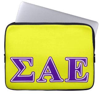 Sigma Alpha Epsilon Purple Letters Computer Sleeves