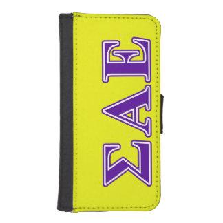 Sigma Alpha Epsilon Purple Letters Phone Wallet Case
