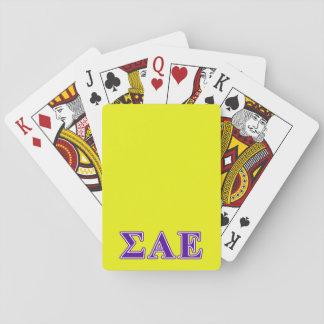 Sigma Alpha Epsilon Purple Letters Poker Cards