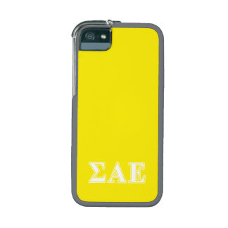 Sigma Alpha Epsilon White and Yellow Letters iPhone 5/5S Cases