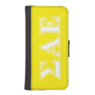 Sigma Alpha Epsilon White and Yellow Letters Phone Wallet