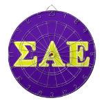 Sigma Alpha Epsilon Yellow Letters Dartboard