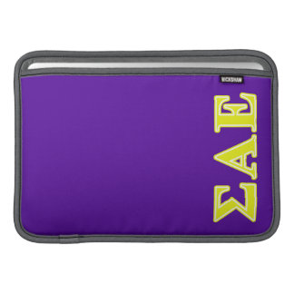 Sigma Alpha Epsilon Yellow Letters Sleeves For MacBook Air