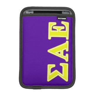 Sigma Alpha Epsilon Yellow Letters iPad Mini Sleeve
