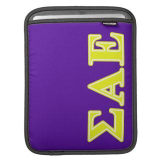 Sigma Alpha Epsilon Yellow Letters iPad Sleeves
