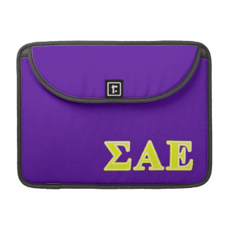 Sigma Alpha Epsilon Yellow Letters Sleeves For MacBook Pro