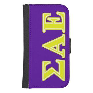 Sigma Alpha Epsilon Yellow Letters Phone Wallets