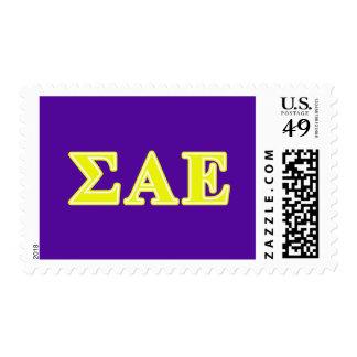Sigma Alpha Epsilon Yellow Letters Stamps