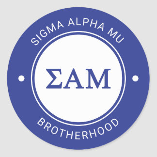 Sigma Alpha Mu | Badge Classic Round Sticker