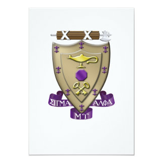 Sigma Alpha Mu Crest Card
