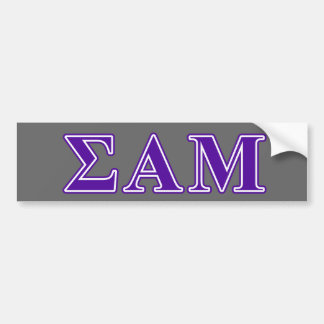 Sigma Alpha Mu Purple Letters Bumper Sticker