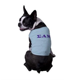 Sigma Alpha Mu Purple Letters Pet Shirt
