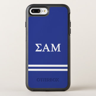 Sigma Alpha Mu | Sport Stripe OtterBox Symmetry iPhone 8 Plus/7 Plus Case