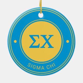 Sigma Chi   Badge Ceramic Ornament