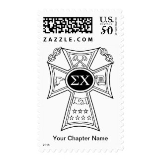 Sigma Chi Badge Postage