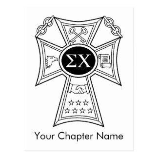 Sigma Chi Badge Postcard