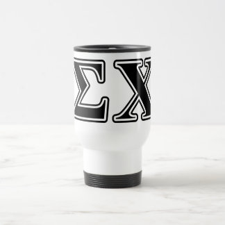 Sigma Chi Black Letters 15 Oz Stainless Steel Travel Mug