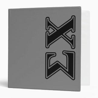 Sigma Chi Black Letters Binders