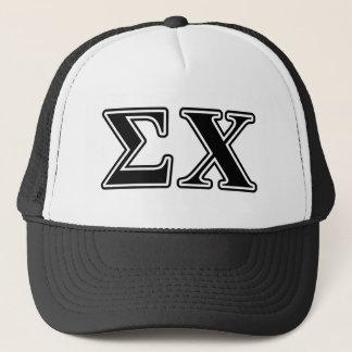Sigma Chi Black Letters Trucker Hat