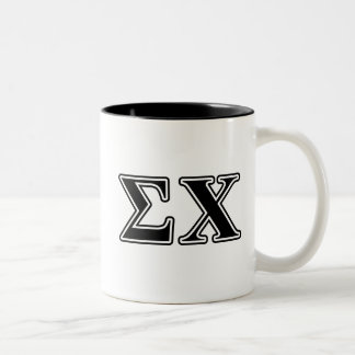 Sigma Chi Black Letters Two-Tone Coffee Mug