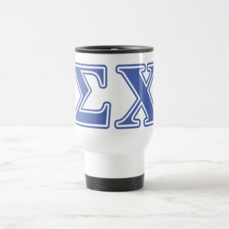 Sigma Chi Blue Letters 15 Oz Stainless Steel Travel Mug