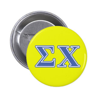 Sigma Chi Blue Letters 2 Inch Round Button