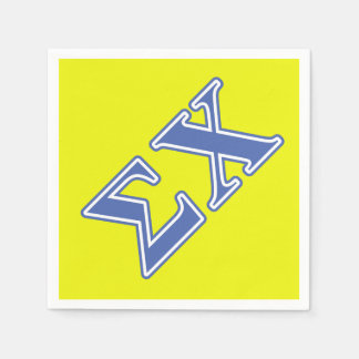 Sigma Chi Blue Letters Paper Napkin