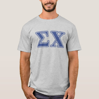 Sigma Chi Blue Letters T-Shirt
