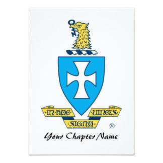 Sigma Chi Crest Logo Card