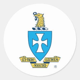 Sigma Chi Crest Logo Classic Round Sticker
