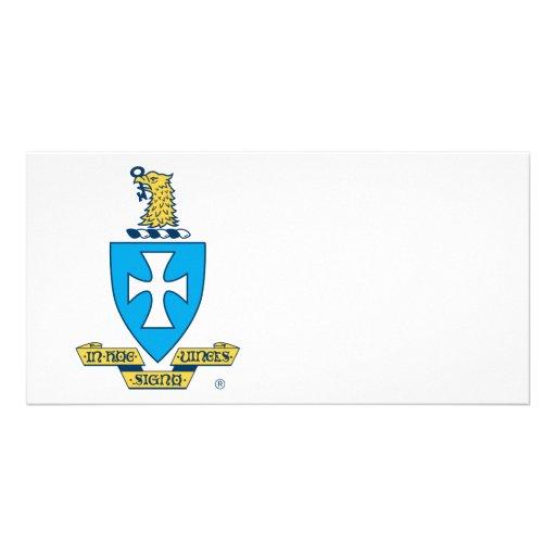 Sigma Chi Crest Logo Custom Photo Card