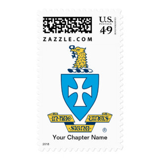 Sigma Chi Crest Logo Postage Stamp