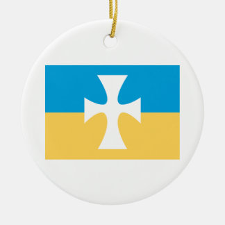 Sigma Chi Flag Ceramic Ornament