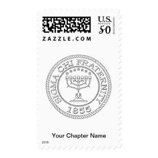 Sigma Chi Grand Seal B+W Postage