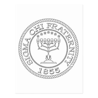 Sigma Chi Grand Seal B+W Postcard
