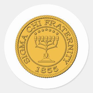 Sigma Chi Grand Seal Color Classic Round Sticker