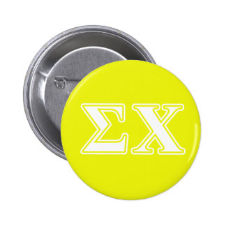 Sigma Chi White and Yellow Letters 2 Inch Round Button