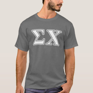 Sigma Chi White and Yellow Letters T-Shirt