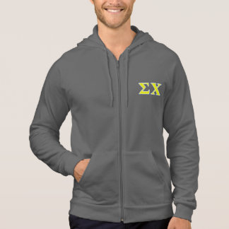 Sigma Chi Yellow and Blue Letters Hooded Pullover