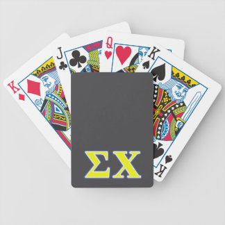 Sigma Chi Yellow and Blue Letters Bicycle Card Deck