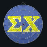 "Sigma Chi Yellow Letters Dartboard With Darts<br><div class=""desc"">Check out these official Sigma Chi designs! Personalize your own Greek merchandise on Zazzle.com! Click the Customize button to insert your own name, class year, or club to make a unique product. Try adding text using various fonts &amp; view a preview of your design! Zazzle&#39;s easy to customize products have...</div>"
