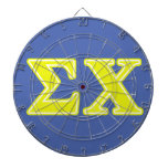 Sigma Chi Yellow Letters Dartboards