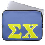 Sigma Chi Yellow Letters Laptop Sleeve